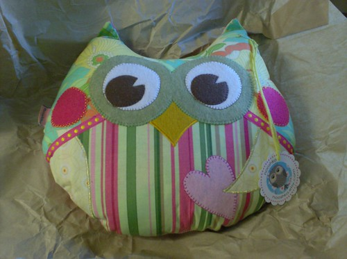 Kirby Nooshka stuffed handmade sewn owl plush toy