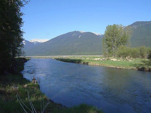 Where the Skagit River enters the Ross Valley...
