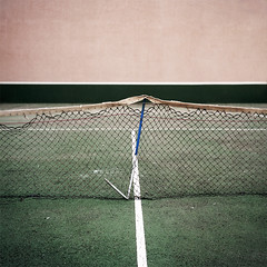 (Salva Lpez) Tags: red people abandoned 6x6 sport rolleiflex no places tenis medium format portra escoba 160nc