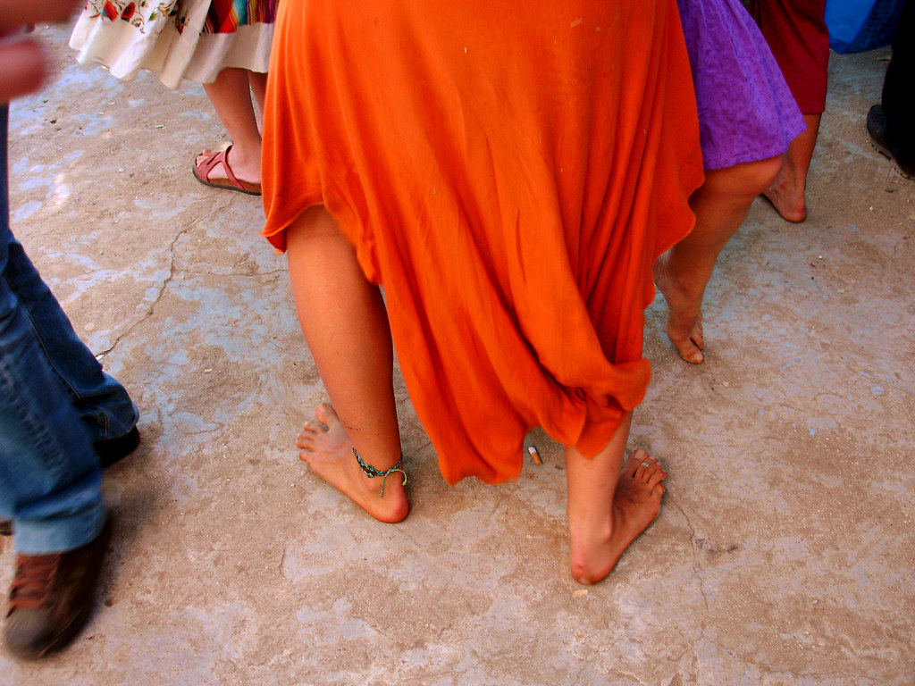 Dancing barefooted