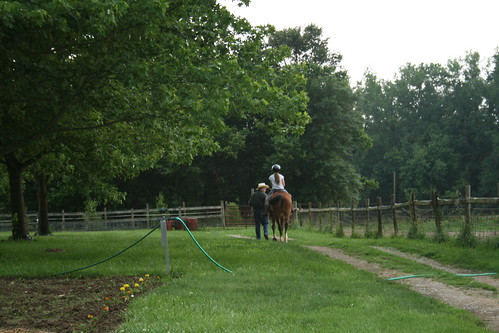 first horse riding lesson
