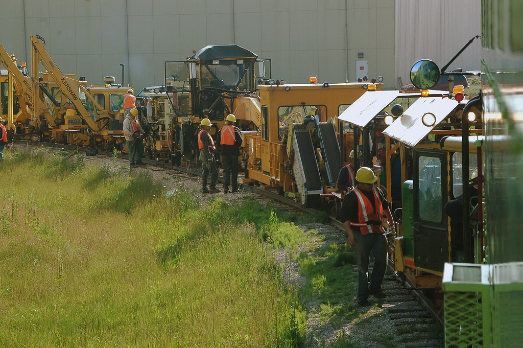 maintenance -of -way workers getting ready