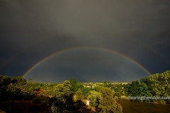 Santa Fe double rainbow (wycombiensian) Tags: storm clouds rainbow