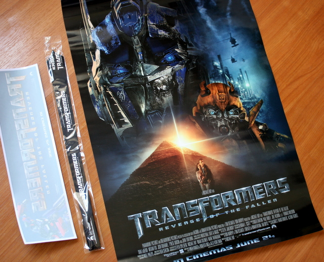 Transformers goodies to give away