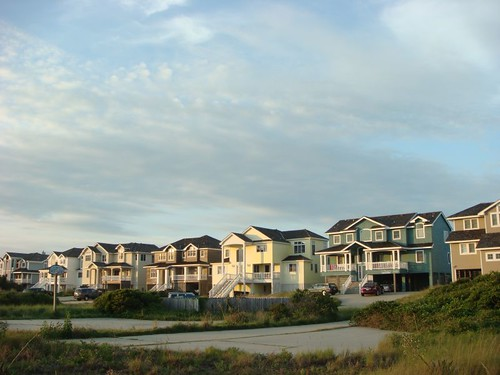 Vacation houses in Nags Head, North Carolina.