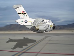 C17 High Speed Pass (blackheartart) Tags: art airplane aircraft aviation military c17 globemaster caricatures