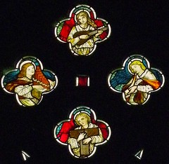 Musical angels, Waterford (robin.croft) Tags: stainedglass angels hertfordshire preraphaelite morrisco angemusicien