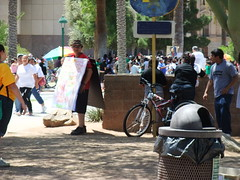 Protestors at the State Capitol (spinrage) Tags: arizona bill state alien protest capitol illegal racism immigration senate reform dps sb1070 legalizearizona