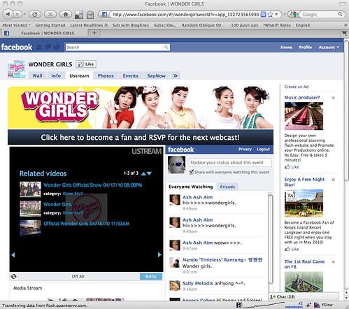 Wonder Girls Facebook