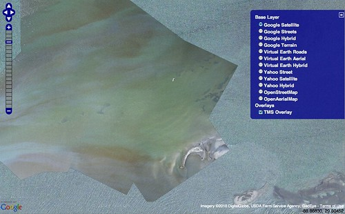 Grroots Mapping » Blog Archive » Birds and oil visible in ... on gulf of mexico islands map, alaska islands map, ga islands map, maui islands map, new orleans map, louisiana map, mississippi islands map, africa islands map, sanibel islands map, breton sound map, roanoke islands map, ocracoke islands map, barataria bay map, corpus christi map, grand isle map, mississippi gulf coast map, sunshine islands map, gulf coast barrier islands map, san juan islands map,