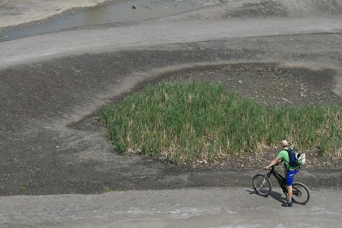 Mountainbiker auf Rheinelbe