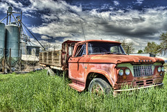 Out to Pasture (Julie Rideout) Tags: truck farming nikkor oldtruck hdr nikond200 julierideout junephotochallenge