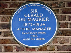 Photo of Gerald du Maurier blue plaque