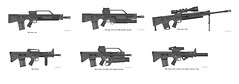 PDW famely (timberfox15) Tags: rifles rpg guns weapons pmg battletech