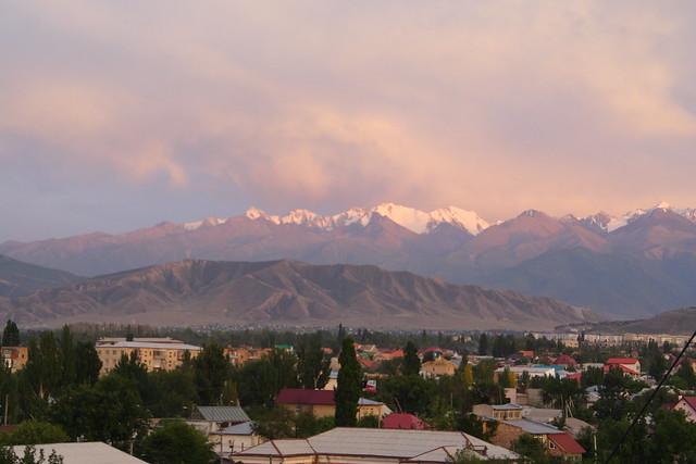 Bishkek and mountains