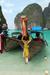 Maya bay _ Phi Phi Leh (MartinePasquini) Tags: ocean trip travel blue trees sunset sea summer sky holiday tree tourism beach nature water statue giant relax thailand island temple coast sand holidays rocks asia paradise peace tour phi phiphi bangkok buddha postcard sandy country alien religion culture royal tranquility wave buddhism grand lagoon palace palm clear exotic serenity sacred tropical vegetation romantic don kata ao transparent sands phuket wat kho leh tropics karon krabi nang similan waterways phra kaew railay mythological khochang exoticism