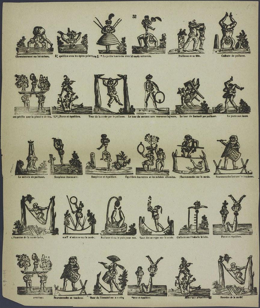 Clown tournant sur lui-même by HV Houter 1827-1894
