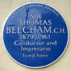 Photo of Thomas Beecham blue plaque