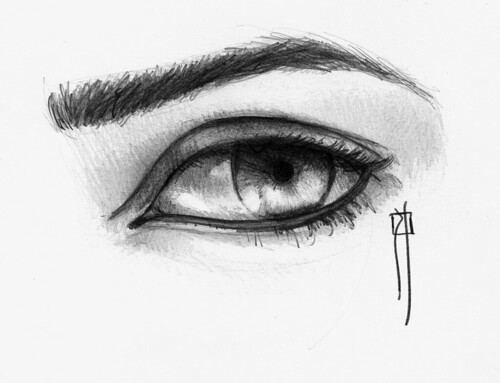 Pencil drawing: an eye /dibujo de ojo a lapiz