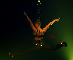 ... steine freak blonde acrobatics heels hanging fishnets acrobat pavilion