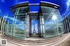 Mur de la Paix [HDR] (Hussain Shah.) Tags: paris france tower nikon eifel fisheye hdr shah hussain 105mm murdelapaix photomatix d300s