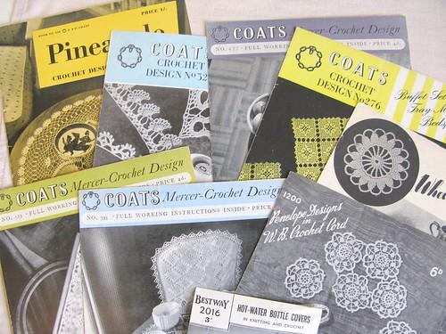 vintage Coats crochet leaflets
