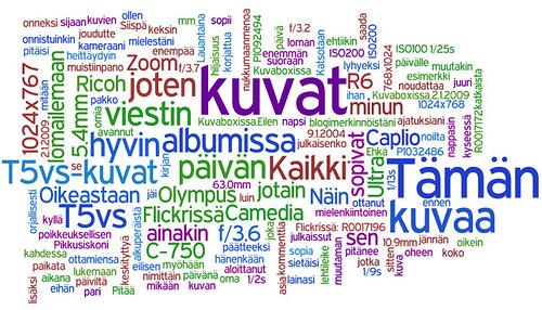 Wordle.netin näkemys BTW:n tekstisisällöstä