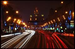 Night traffic in Moscow (vadimivanov1980) Tags: moscow citylights nighttraffic