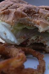 Doomies Spicy Chicken Sandwich