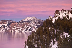 Over The Horizon At Crater Lake (kevin mcneal) Tags: winter lake snow nature oregon canon landscape snowshoe seasons hiking lodging crater pacificnorthwest craterlake oregonstate kevinmcneal canon5dmk2