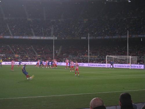 Barcelona free kick
