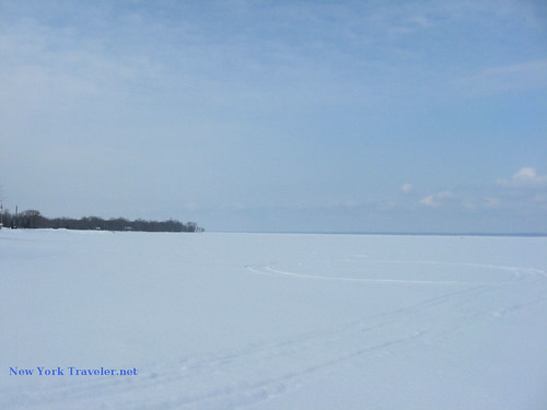 Looking West Frozen Oneida Lake