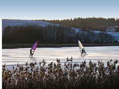 Ice Surfing (kosare) Tags: winter ice bayern bavaria eis ebersberg egglburgersee