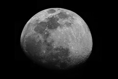 Gibbous Moon on January 7th, 2009 (Thomas Shahan) Tags: sky moon slr k composite night vintage lens 50mm prime reflecting mirror inch asahi pentax takumar mosaic space january large 8 9 astro luna iso 1600 craters telescope projection astrophotography schmidt dslr phase smc lunar gibbous 2009 stitched tycho seas celestron eyepiece opo sct bayonet c8 f17 cassegrain clavius terser k200d oursolarsystem Astrometrydotnet:status=failed Astrometrydotnet:id=alpha20090321428547