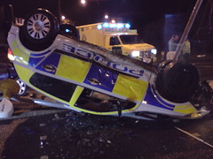 Police car crash