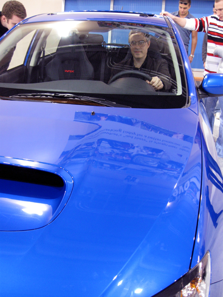 The Gryphon in the Subaru WRX (Click to enlarge)