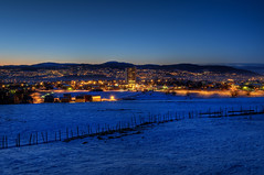 Risvollan and Trondheim in the Blue Hour (Arve Johnsen) Tags: norway norge norwegen bluehour trondheim norvege blåtimen blauestunde risvollan
