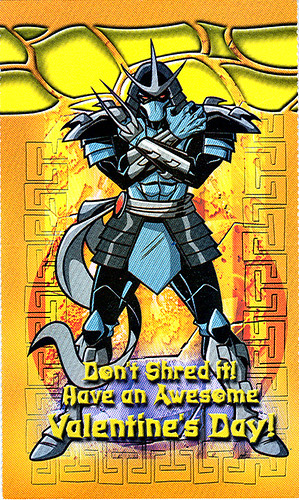 'Shredder' Valentine by  ' Paper Magic Group '  ..  From the Dooney / Randolph TMNT 2k3 style guide (( 2005 ))