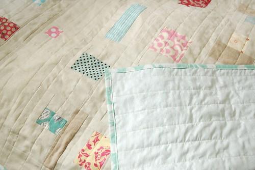 cotton/linen cot quilt
