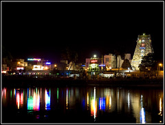 Temple (dr_shiva29) Tags: night temple slow shutter chennai reflexions myapore