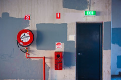 patches (thoughtfactory) Tags: door urban graffiti adelaide firehose exitsign artcafe graffiticoverup sonydscr1 haphazartblue adelaidecbd auselite zeissvariosonnar youngstreetcarpark