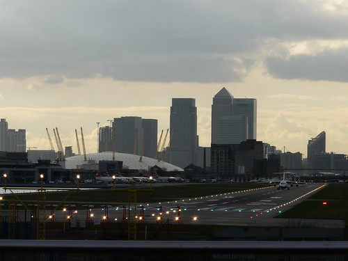 City Airport, O2 Arena, Canary Wharf by Loz Flowers, on Flickr