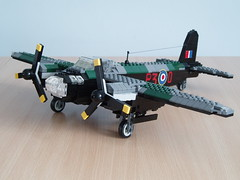 Mosquito (1) (Mad physicist) Tags: lego aircraft camo mosquito camouflage british minifig bomber dehavilland minifigure dehavillandmosquito