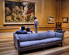He Watches the Painting Instead (Karon) Tags: art museum mall washingtondc kiss kissing couple gallery paintings nationalgallery couch dcist nationalgalleryofart westbuilding
