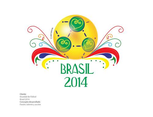 Logo rechazado Mundial de Fútbol Brasil 2014