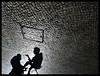 Fado I: Salón Limpiabotas / Bootblack Shop (Sator Arepo) Tags: street leica shadow sky reflection portugal stone chair sitting shadows floor lisboa lisbon streetphotography shades shade gradient paving conversation shoeshine dlux pavingstone limpiabotas bootblack dlux4 retofz090908 gettyimagesspainq1 iberiastreets gettyimagesiberiaq2