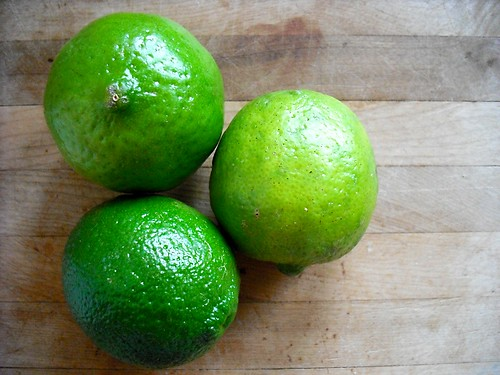limes for key lime cheesecake