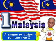 1Malaysia slogan by mowadoha