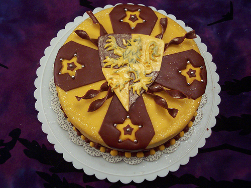 Harry Potter Griffindor Cake - top