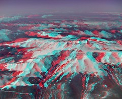 Mt Evans CO (3D) (D.Broberg) Tags: mountains window canon airplane geotagged evans 3d colorado mt anaglyph aerial stereo co chacha mapped sequential redcyan sd1000 14240ft